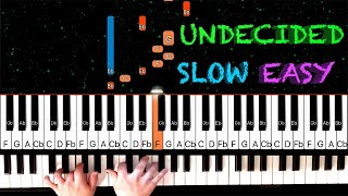 Chris Brown - Undecided - EASY SLOW Piano Tutorial