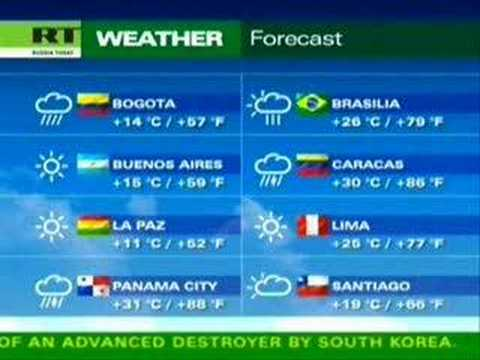 Russia Today | Weather forecast