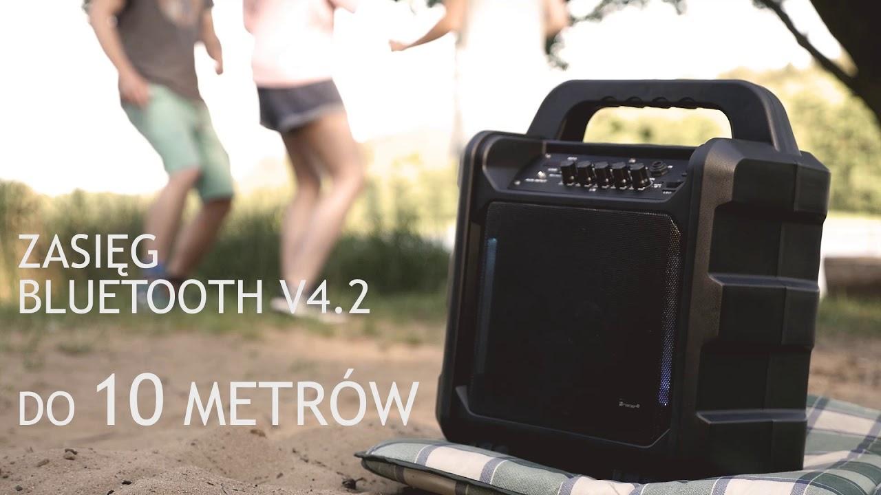 Głośnik Poweraudio Tracer Boogie Bluetooth   Karaoke