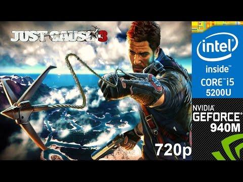 Just Cause 3 on HP Pavilion 15-ab032TX, Med Setting 720p, Core i5 5200u + Nvidia Geforce 940m