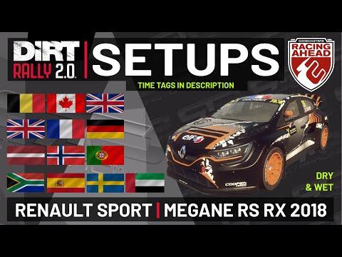 Renault Sport Megane RS RX 2018 | RX SETUPS DRY & WET | 13 Locations | DiRT Rally 2.0