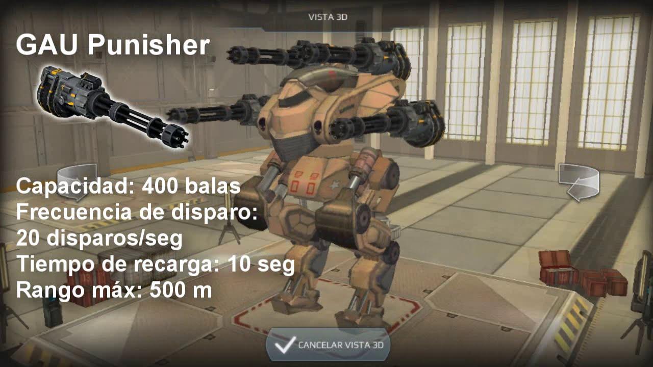 Walking War Robots | GAU Punisher Características | Armas ...