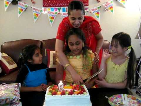 Swetha Birthday Cake Cutting With Her Friends