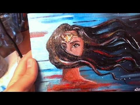 painting wonder woman royal art supplies acrylic paint set review