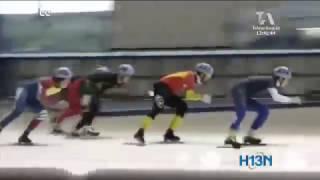 En pista holandesa, Daniel Zapata se prepara para la copa mundo de patinaje sobre hielo