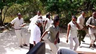 Botswana Welcome Singing and Dancing African Bush Camp -Khwai Tented Camp