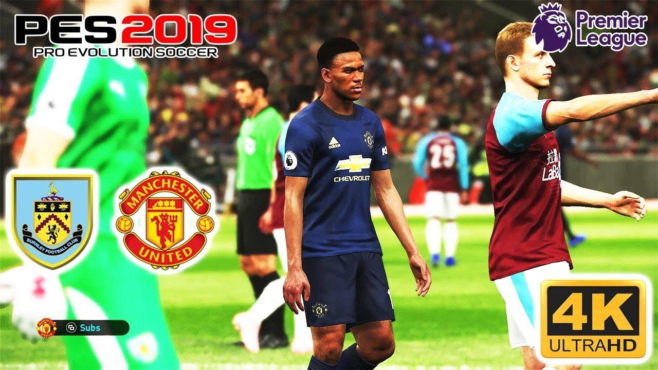 PES 2019 | Burnley vs Manchester United | Premiere League ...
