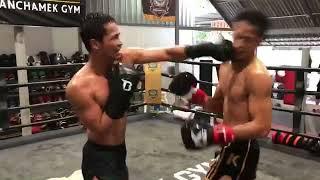 Muay Thai training with Superbon Banchamek and Petchmankong Banchamek