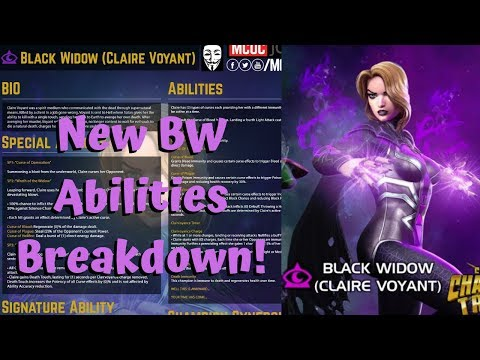 New Claire Voyant Bw Abilities Breakdown Death Immunity Marvel Contest Of Champions