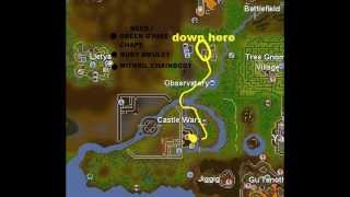 Think in the center of the observatory. clue scroll guide 2007 rs