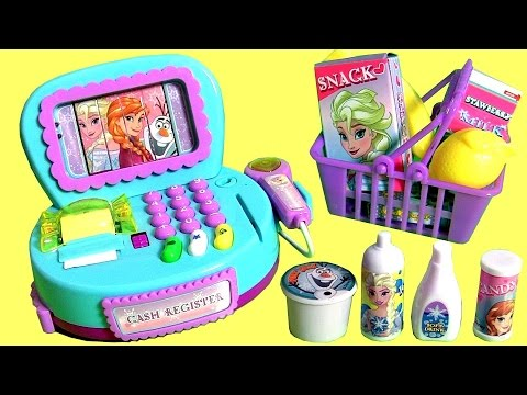 NEW Disney Frozen Cash Register Toy with Lights n' Sounds & Surprise Cashier Toys for Girls 。◕‿◕。