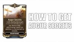 Warframe how to get Augur Secrets Mod