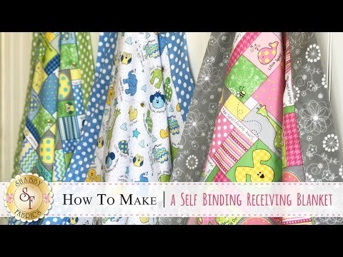 How To Make A Self-Binding Receiving Blanket | A Shabby Fabrics Quilt Sewing Tutorial