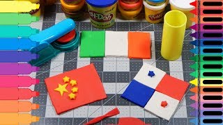 Play Doh China, Ireland, Panama Flag-Playdoh Chinese, Irish, Panamanian Flag for kids-Tanimated Toys