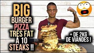 BIG BURGER PIZZA Très FAT à 10 Steaks !! + de 2Kg de Viandes ! (#1 Winter Food Tour Lyon)