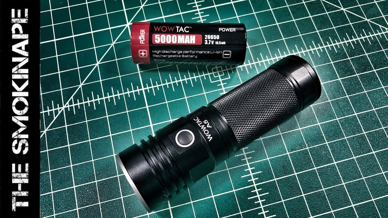 WOWTAC A5 3650 Lumens CREE XHP 70 Rechargeable Flashlight  Camping Hiking CW