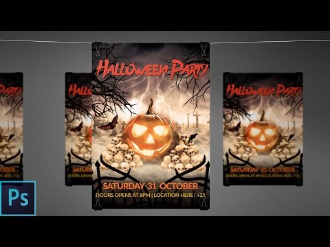 Halloween Flyer + PSD - Photoshop Tutorial