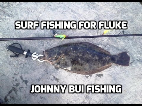 Surf fishing for fluke w gulp nj 6 24 16 youtube for Fluke fishing nj