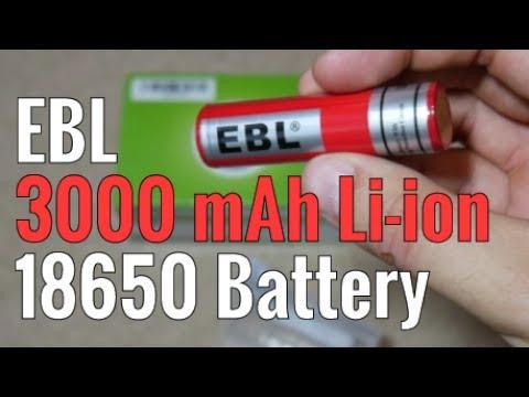 EBL 18650 3000 mAh Lithium Ion Battery Review