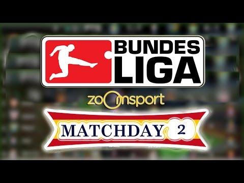 Bundesliga - schedule fixtures matchday 2 - 2016/17