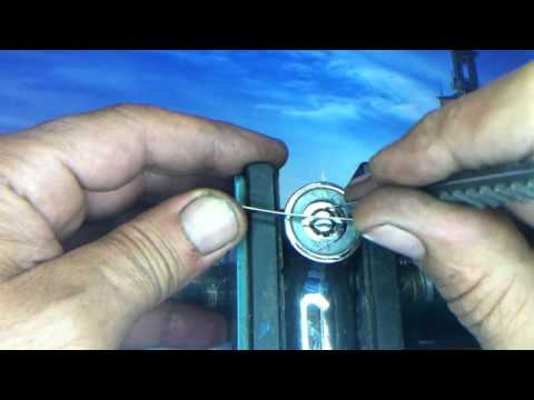 como abrir cerradura tubular sin llave