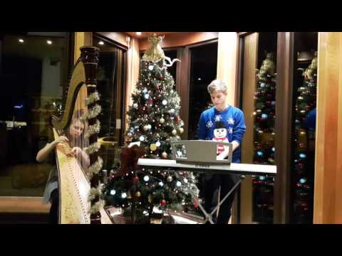 SILENT NIGHT performed on harp & piano
