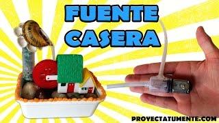 Construye tu Propia Fuente de Agua Decorativa Casera