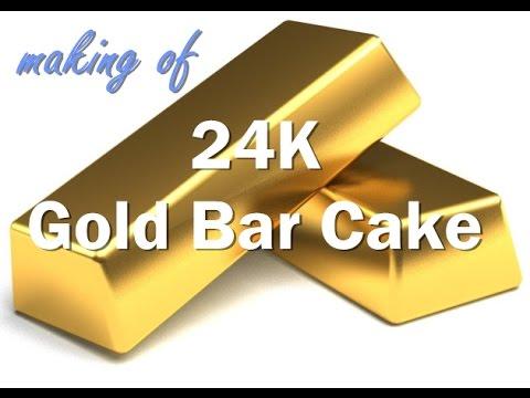 The Making of 24K Gold Bar Cake