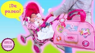 Los bebés Lindea y Ben van de paseo en sillita de juguete - Vídeos de muñecas y bebés reborn