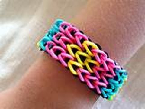 Diybracciale Triplo Con Elastici Rainbow Loom Triple Sample Fishtail