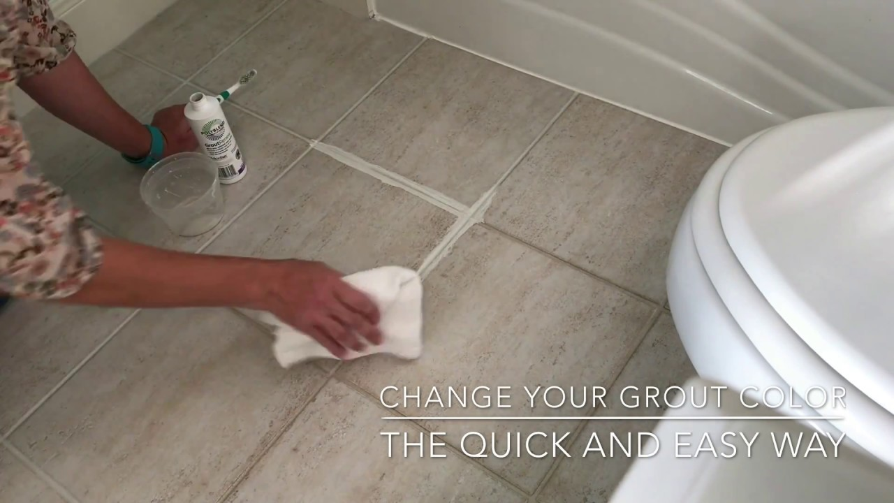 Change Grout Color - The Easy Way - Grout Renew Review - YouTube