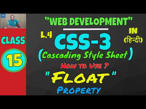 How To Use FLOAT Property, COLOR Property In CSS || Web Development Classes Lesson-15