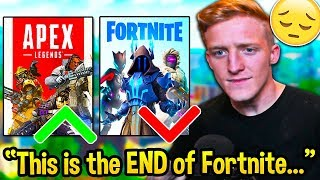 Tfue *FINALLY* Admits Fortnite is DYING because of Apex Legends! - Fortnite Moments