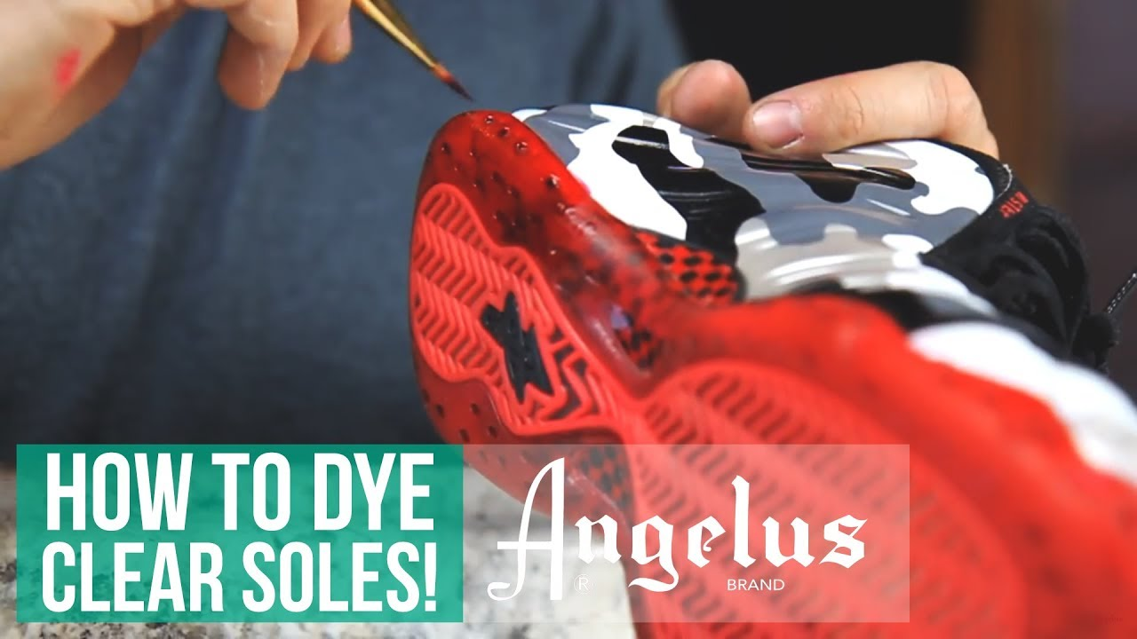 How to Make Sole Dye For Translucent/Icey Soles | Angelus Dye and ...