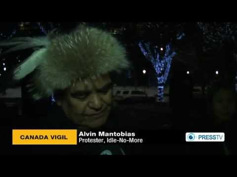 Idle-No-More Candlelit Vigil Held in Calgary, Alberta - PRESS TV