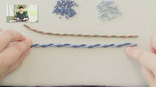 Two Bead Spiral Herringbone Rope