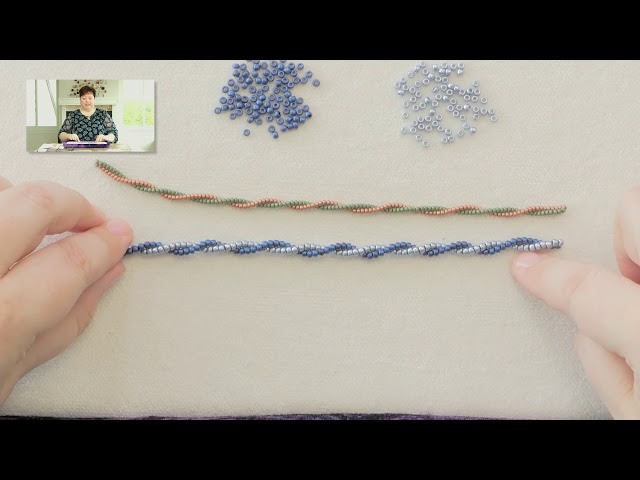 Two Bead Spiral Herringbone Rope