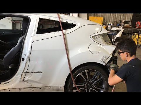 Hyundai Veloster Turbo Quarter Panel Removal