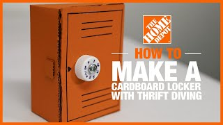 DIY Combination Locker with @Thrift Diving | The Home Depot Kids Workshops