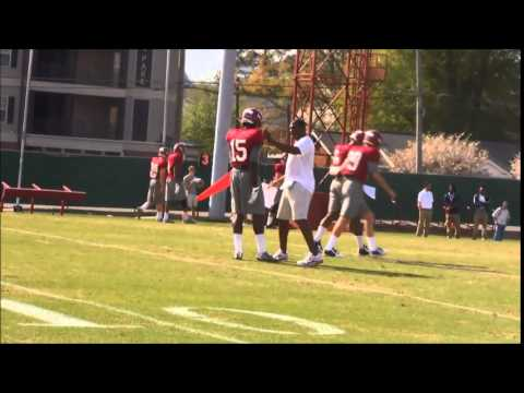 Young Alabama DBs coached by Nick Saban, Mel Tucker in 2015 spring practice