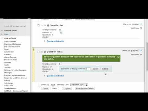How to create a test using question pools - Blackboard 9.1