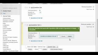 Comment créer un test à l'aide de groupes de questions - Tableau 9.1