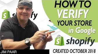 How to Verify Shopify Store with Google Search Console Shopify 2020