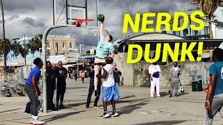 NERDS DUNK ON TRASH TALKING HOOPERS AT VENICE BEACH (Feat. Jesser & ZackTTG) Video