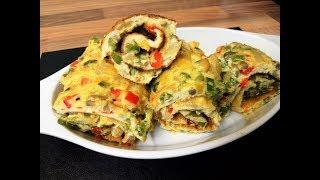 Easy Fluffy Egg Omelet Roll
