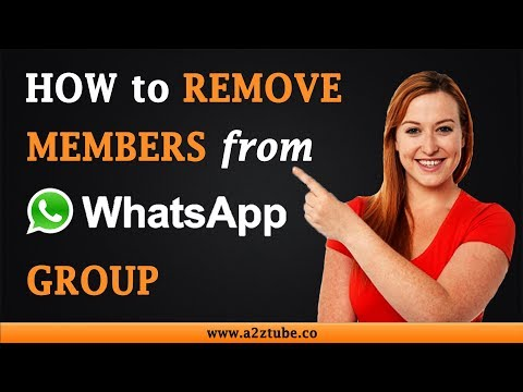 How to remove someone from group chat on whatsapp