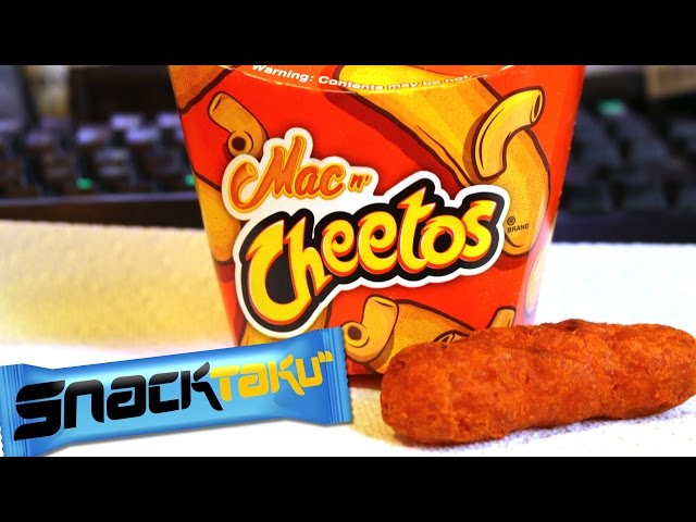 Snacktaku Eats Burger Kings Mac N Cheetos