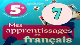 Mes apprentissages en francais 5 page 7