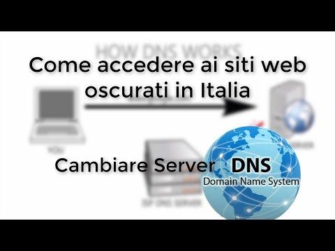 Accedere ai siti oscurati in Italia - Cambiare server DNS