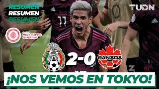 Resumen y goles   México 2-0 Canadá   Semifinal - Preolímpico 2021   TUDN